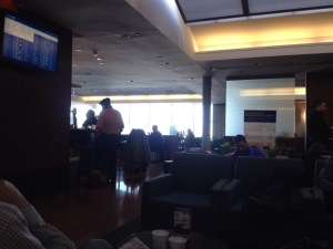 Business class lounge.