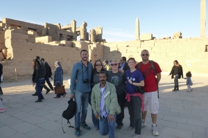 The group at Karnak Temple.